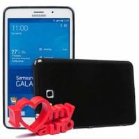 CoverZone Samsung Galaxy Tab 4 T230 Kılıf Soft Flexi Silikon Siyah + 3d Araç Kokusu