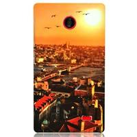 CoverZone Nokia X Kılıf Sert Arka Kapak Galata Manzara