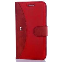 CoverZone Samsung Galaxy E7 Kılıf Delüks Cüzdan Kırmızı