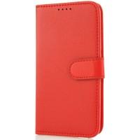 CoverZone HTC Desire 500 Kılıf Cüzdan Kart Gözlü Kırmızı