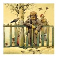 Love Family Dekoratif Yaşlı Adam Yastık Kılıfı - YKA13017