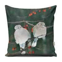 Love Family Dekoratif Kuş Yastık Kılıfı - YKA13037