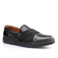 Cabani Kemerli Sneaker Erkek Ayakkabı Siyah Deri