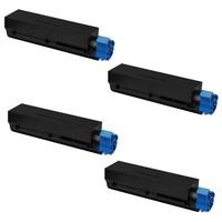 Neon Oki Mb451Dn Toner 4'lü Ekonomik Paket Muadil Yazıcı Kartuş