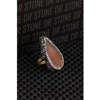 Dr Stone Doğaltaş -Kadın Akik Yüzük 20Ar485