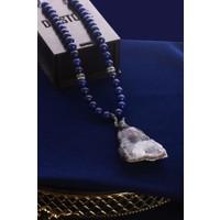 Kadın Kuvars Ve Lapis Lazuli Kolye 20Hsr51