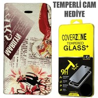 CoverZone Apple İPhone 5/5S/Se Kılıf Japan Desing No 3 + Temperli Cam