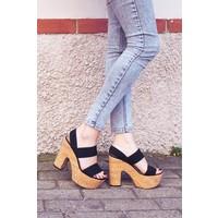 Sofistiqe Stella Siyah Topuklu Sandalet