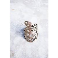Sofistiqe Natural Gümüş Kaplama Yüzük