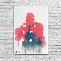 Albitablo Poster Love Marvel Thor Minimal Kanvas Tablo