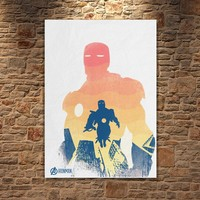 Albitablo Poster Love Marvel Iron Man Kanvas Tablo