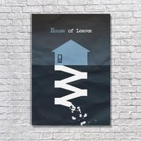 Albitablo Poster Love House Of Leaves Kanvas Tablo