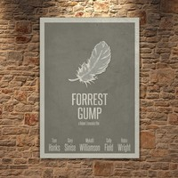 Albitablo Poster Love Forrest Gmp Kanvas Tablo