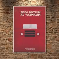 Albitablo Poster Love Selvi Boylum Al Yazmalım Kanvas Tablo