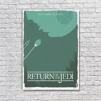 Albitablo Poster Love Return Of The Jedi Kanvas Tablo