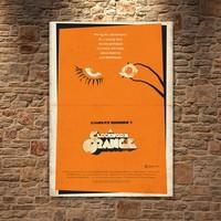 Albitablo Poster Love A Clockwork Orange 2 Kanvas Tablo