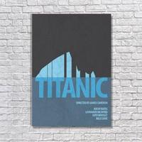 Albitablo Poster Love Titanic Kanvas Tablo