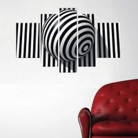 Tictac Design 5 Parçalı Kanvas Tablo Zebra Desen