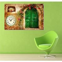Tictac Design Kanvas Tablo Saat - Kapı