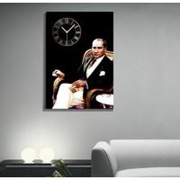 Tictac Design Kanvas Tablo Saat - Ata1