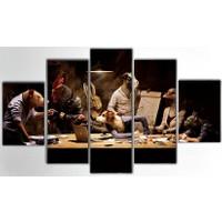 Tictac Design 5 Parça Kanvas Tablo - Hayvanlar