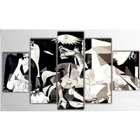 Tictac Design 5 Parça Kanvas Tablo - Guernica