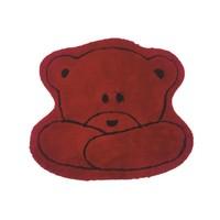 Alessia Akrilik Tek Parça Çocuk Paspası Teddy Kırmızı