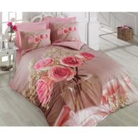 Cotton Box Floral 3D Nevresim Takımı - Roza Pembe