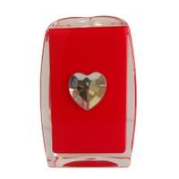 Bosphorus Kırmızı Kalpli Akrilik Diş Fırçalık