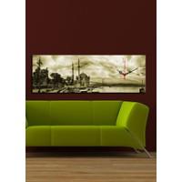 Decostil Ortaköy Gökyüzü Kanvas Saat - 30 x 90 cm