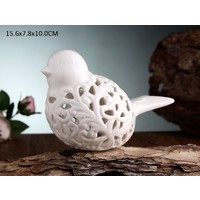 Gönül Porselen Porselen Beyaz Büyük Kuş Biblo