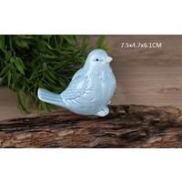 Gönül Porselen Porselen Mavi Orta Boy Kuş Biblo
