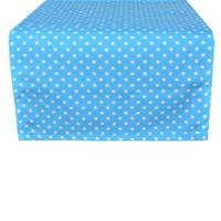 Aliz Runner - Mavi Puantiye - 50x150 cm