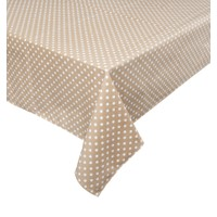 Aliz Masa Örtüsü - Kahve Puantiye - 140x170 cm