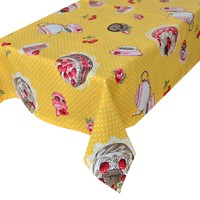 Aliz Masa Örtüsü Sarı Pastalı Puantiye - 140x170 cm
