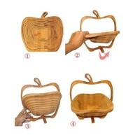 Pratik Şeyler Bambu Meyve Sepeti ve Kesme Tahtası