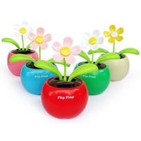 Pratik Şeyler Flip Flap Güneş Enerjili Oynayan Çiçek (2 ADET)