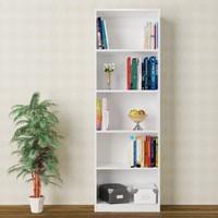 Eyibil Mobilya Ela 5 Raflı Modern Kitaplık ( Derinlik 28 cm )