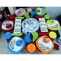 Keramika 63 Parça 6 Kişilik Dans Of Butter Fly Kahvaltı Takımı