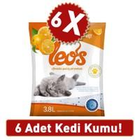 Leo'S Portakal Kokulu Silika Kedi Kumu 3,8 L 6 Ad