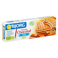 Organik Sütlü Çikolata Dolu Bisküvi, 225 Gr