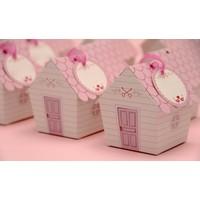 Mevlüt Şekeri Kutusu - Sevimli Ev - Pembe Çatılı
