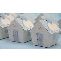 Mevlüt Şekeri Kutusu - Sevimli Ev - Mavi Çatılı