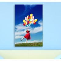 Bonaviya Balonlu Kız Kanvas Tablo -50x70 cm