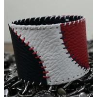 Onka Tasarım Üç Renkli Beyzbol Topu Deri Bileklik