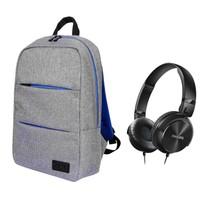 """Port Belize 15.6"""" Gri Notebook Sırt Çantası 110205 + Philips SHL3060 Kulaküstü Kulaklık"""