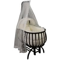 Babylight Defne Sepet Beşik Krem Tekstil