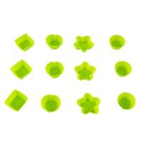 Gondol 12 li Silikon Mini Kek Kalıbı Yeşil