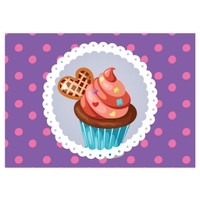 Cushion Design 4 lü Cupcake Amerikan Servis - Mor