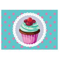 Cushion Design 4 lü Cupcake Amerikan Servis - Turkuaz